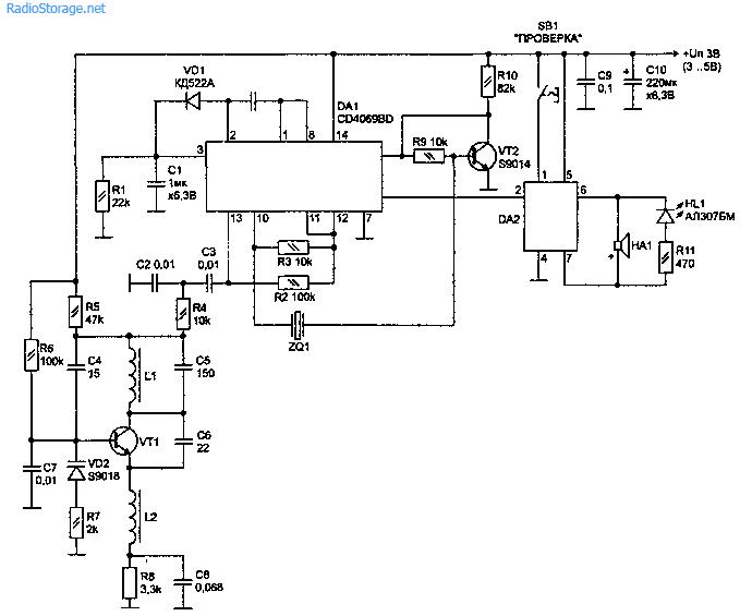 Электрическая схема приемного