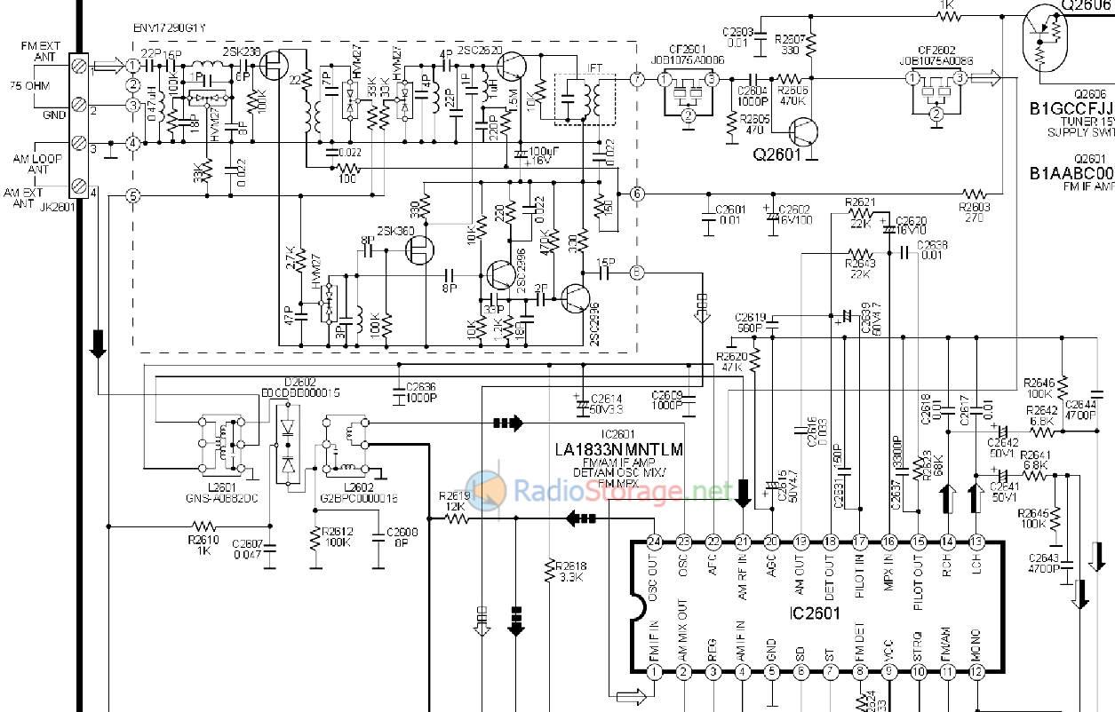 Схема тюнера музыкального центра Panasonic SA AK630EE
