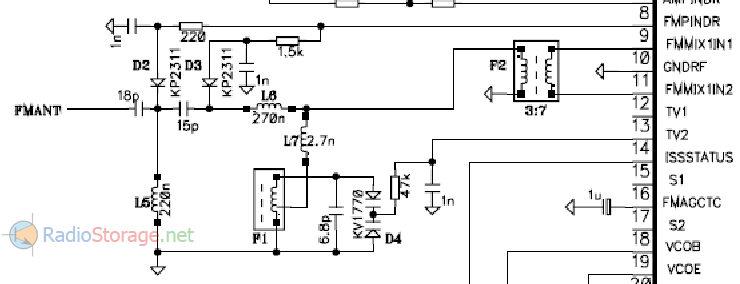Схема из даташита на микросхему TDA7540