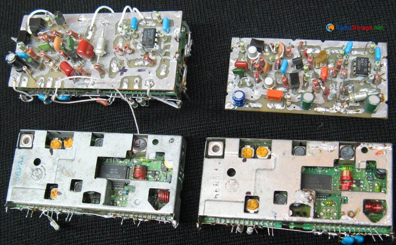 Фото тюнеров с доработанным УПЧ тюнера, индикация настройки светодиодами