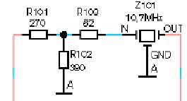 Часть схемы автомагнитолы Blaupunkt London MP-48 - включение фильтров в тюнере