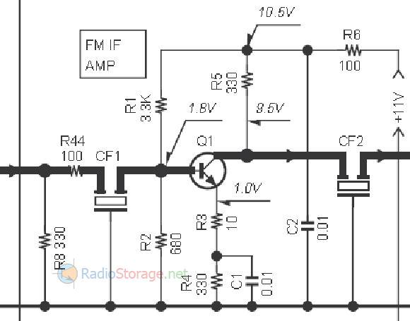 Улучшение работы УПЧ постановкой резистора обратной связи в эмиттер транзистора