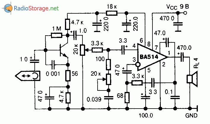 Микросхема BA514 - усилитель