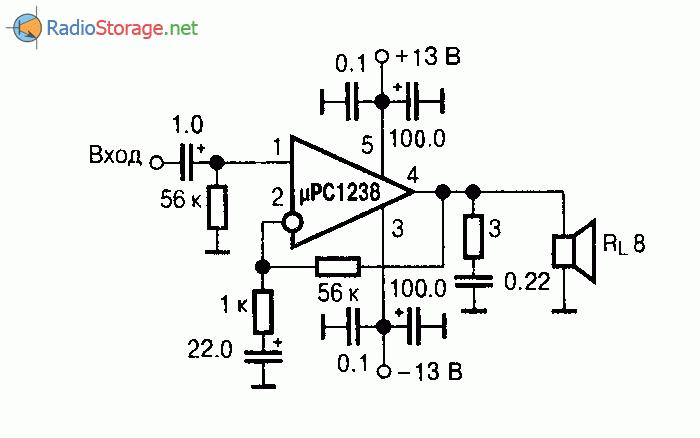 Микросхема uPC1238 - усилитель