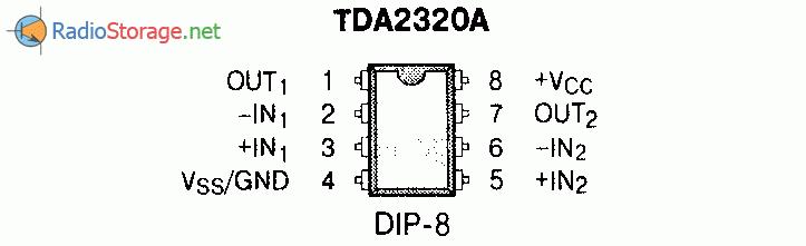 Микросхема TDA2320A