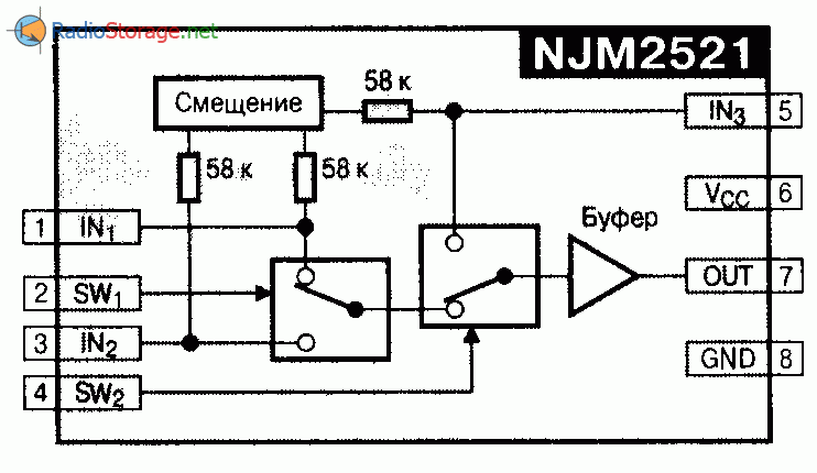 NJM2521L/M/V - ключ с