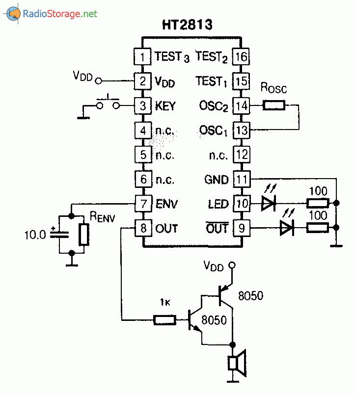 Микросхема HT2813 - генератор