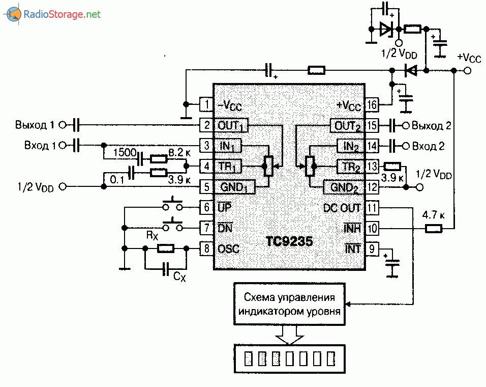 Микросхема TC9235P, TC9235F