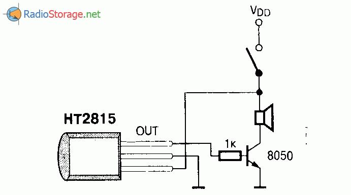 Микросхема HT2815 - генератор звукового сигнала, схема