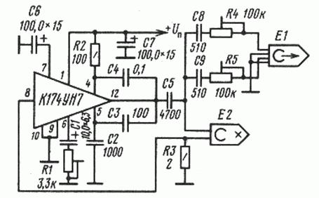 схема генератора стирания и подмагничивания для магнитофона на микросхеме К174УН7