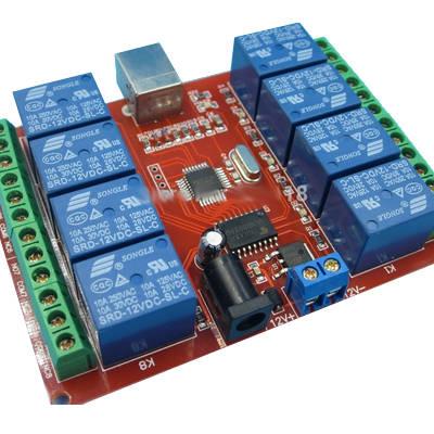 USB-реле (8 каналов коммутации)