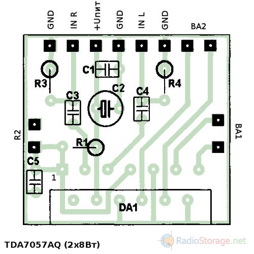 Схема усилителя tda7057