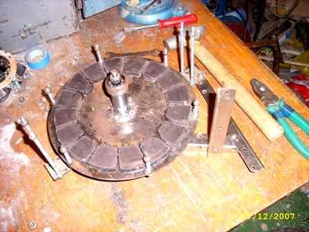 Щечка ротора с магнитами