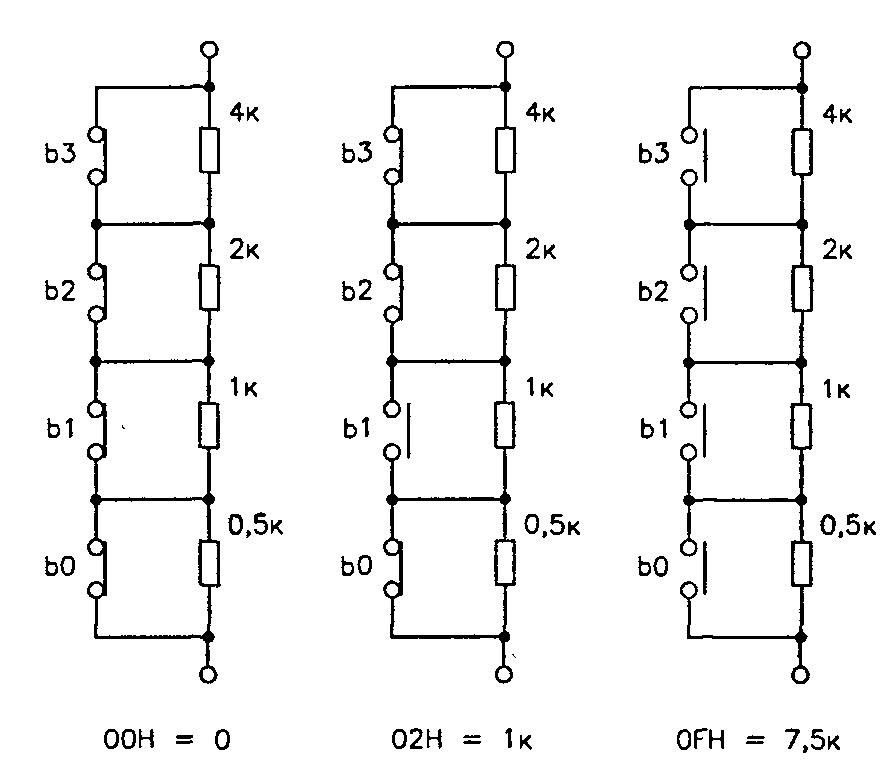 Схема с цифровым переменным резистором