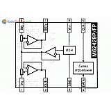 Микросхема M62429P - двухканальный регулятор громкости с цифровым управлением