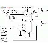 Схема простого термореле (термостата) на мультиплексоре К561КП1, CD4052A