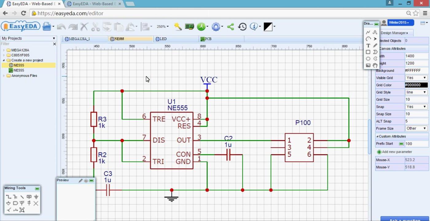 EasyEDA - проектирование электронных схем, печатных плат и симуляция