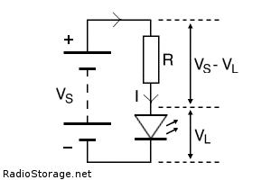 Расчет сопротивления резистора