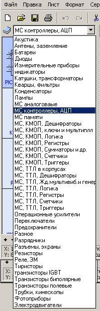 SPlan7.0 (программа для рисования электронных схем) - список библиотек компонентов
