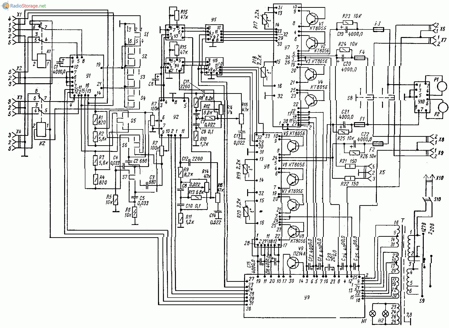 Магнитофон ростов 102 схема фото 203
