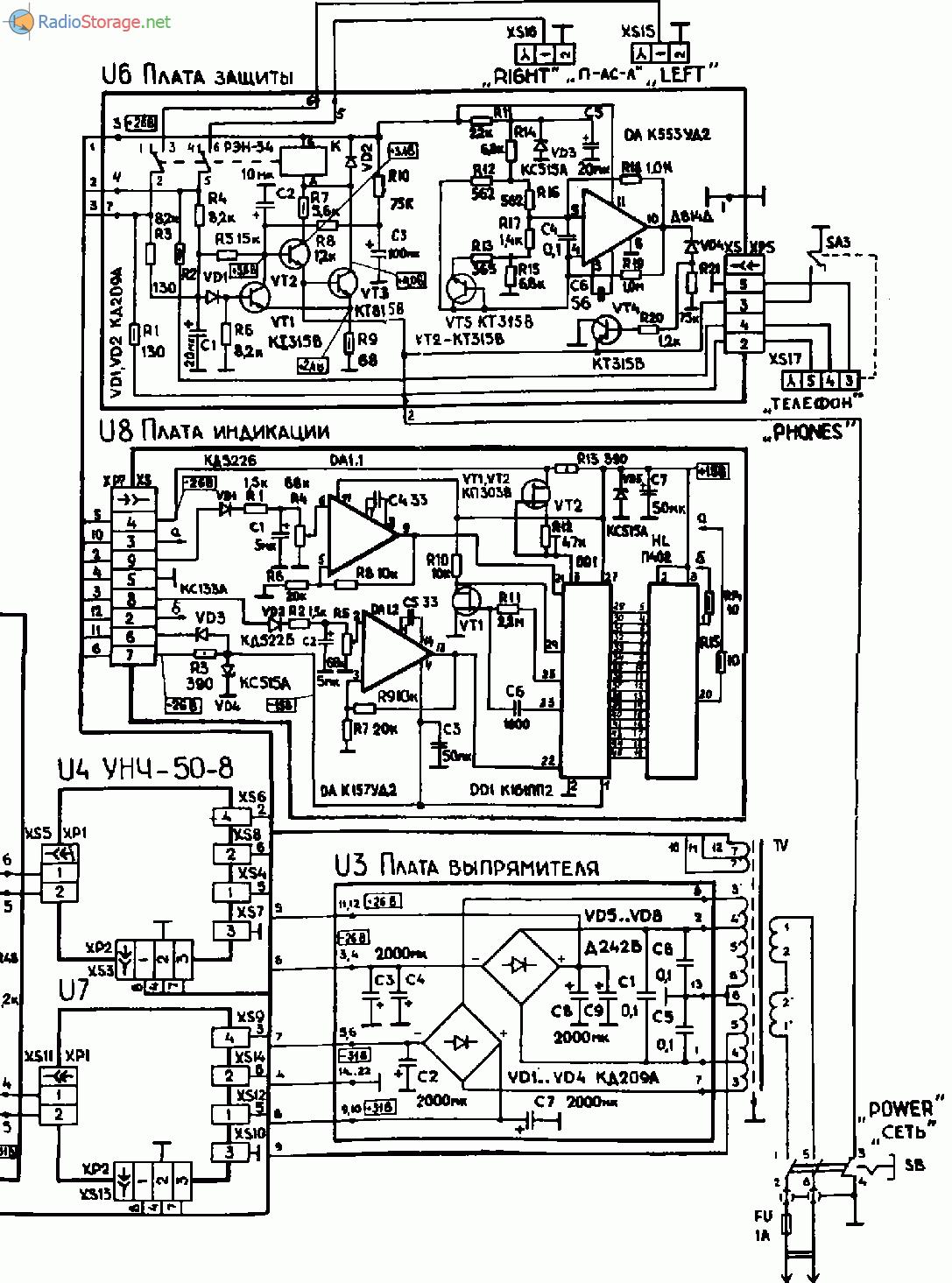 Ремонт усилителя radiotehnika у-101 стерео яплакалъ.