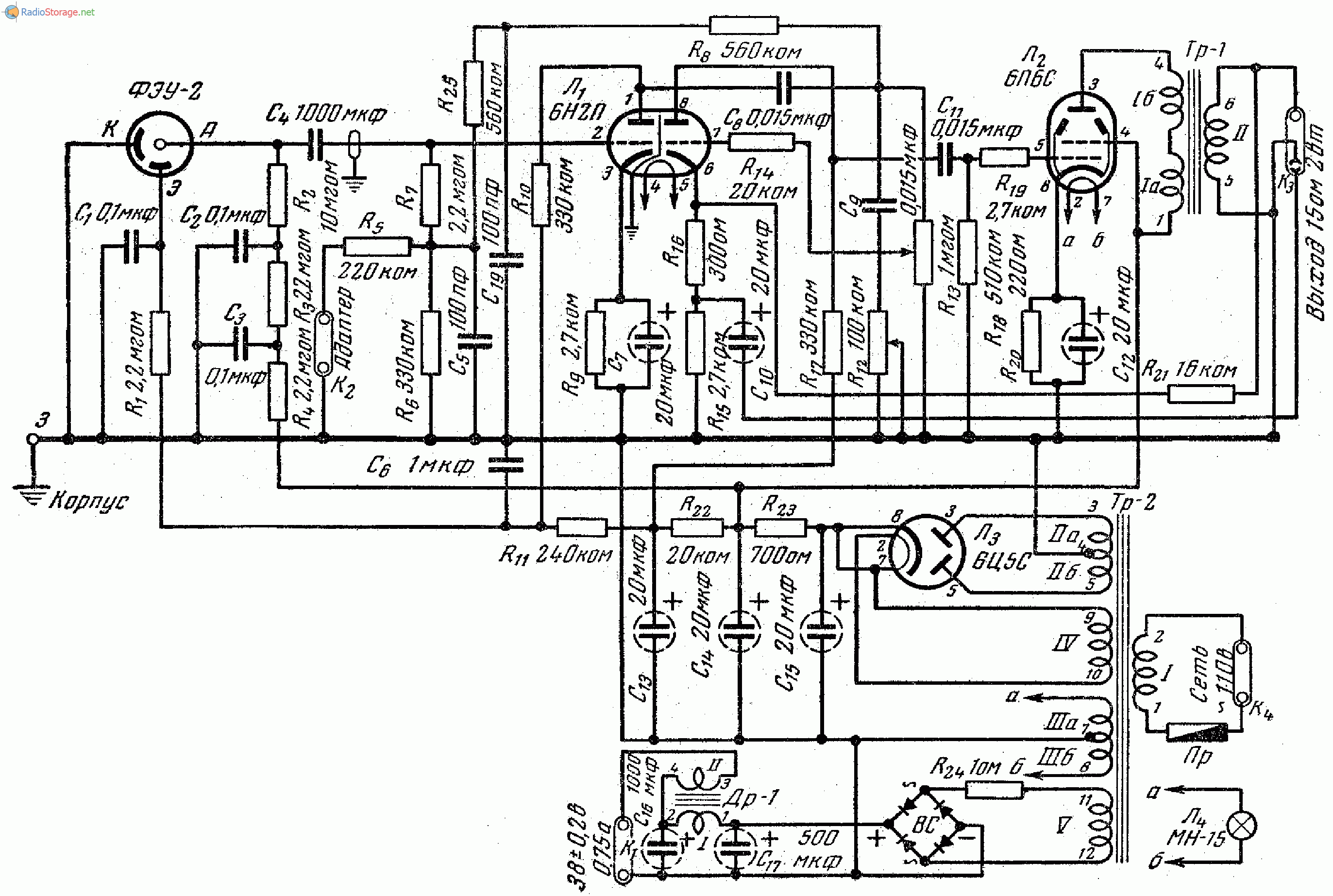 6п6с ламповый усилитель схема фото 355