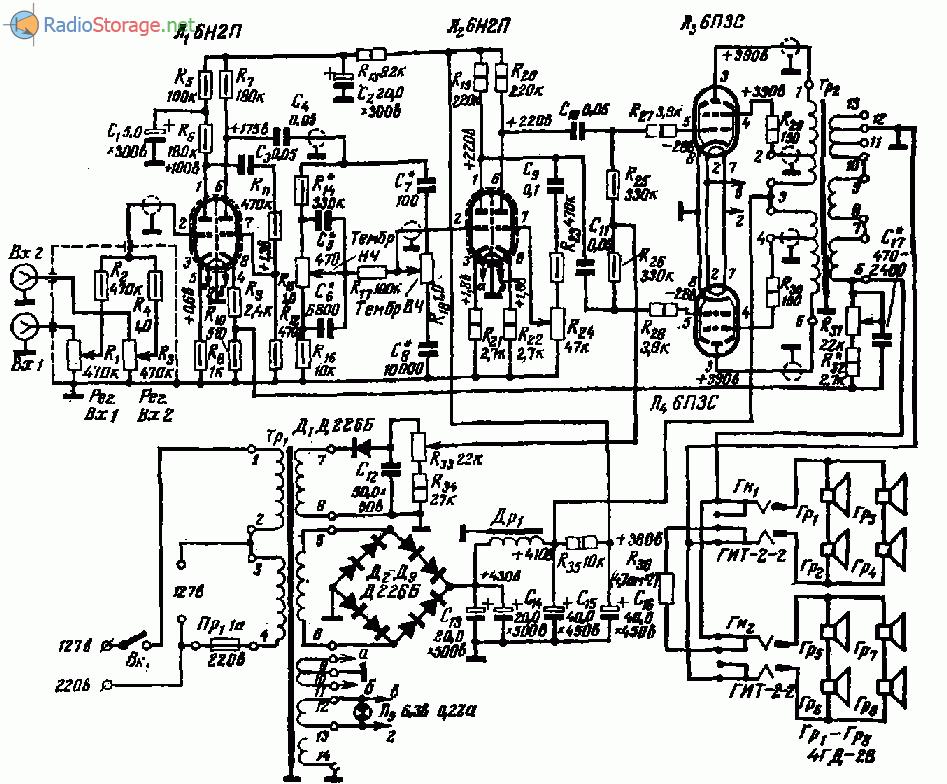 ЗУ-430 (6Н2П, 6П3С), схема