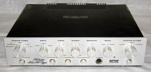 Усилитель Бриг У-001 стерео, схема