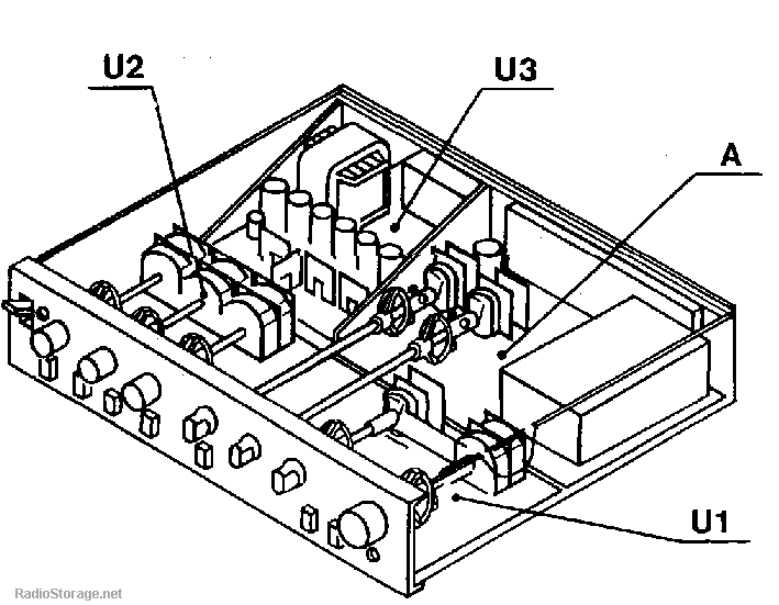 Схема расположения модулей и