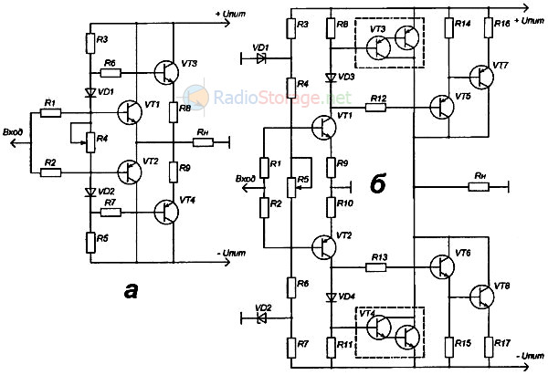 Схема УНЧ на транзисторах