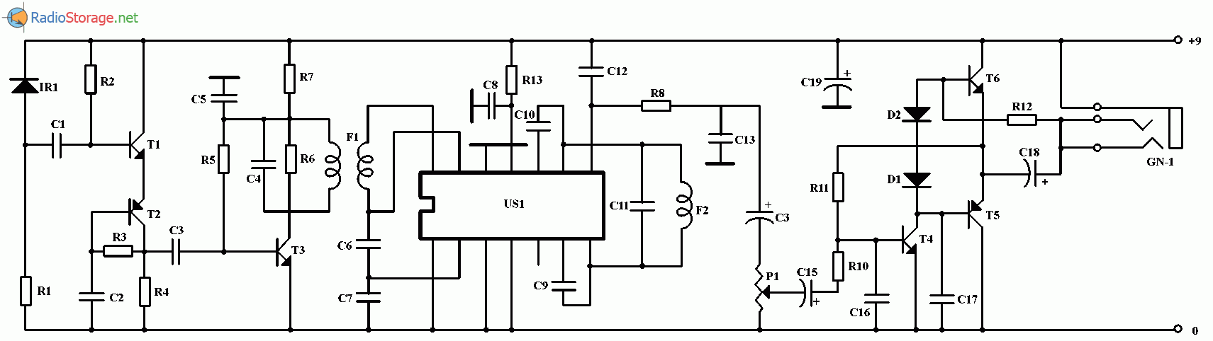 схема беспроводного наушника