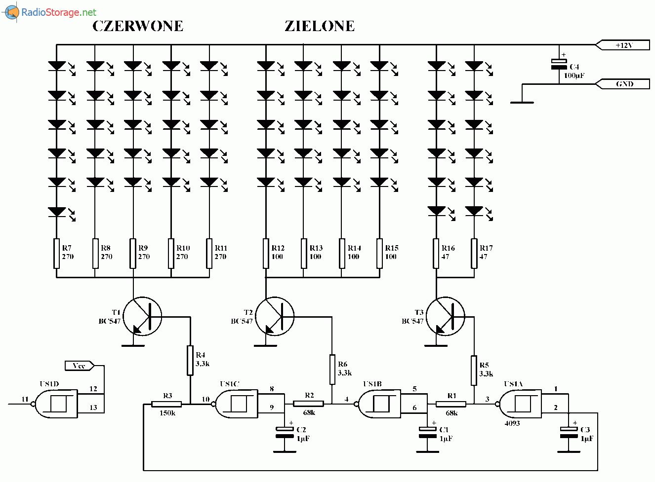 Как сделать схему из светодиодов 511