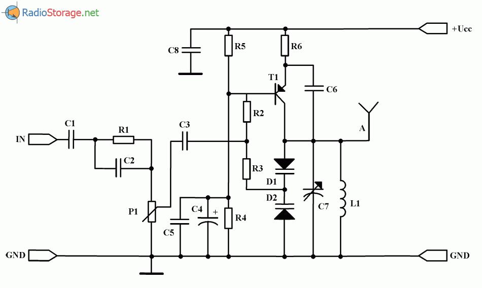 на одном транзисторе