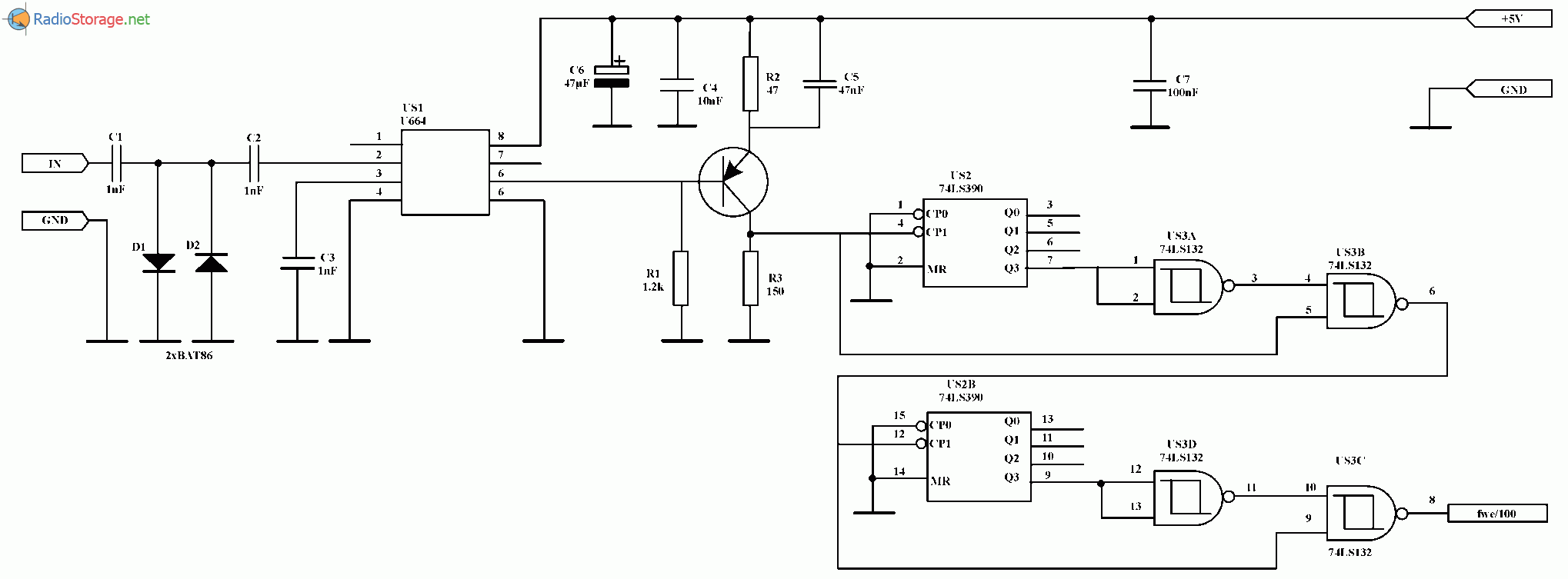 Схема делителя 6 на 4