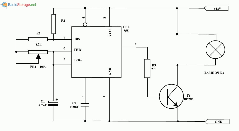 схема генератора с регулировкой частоты на микросхеме