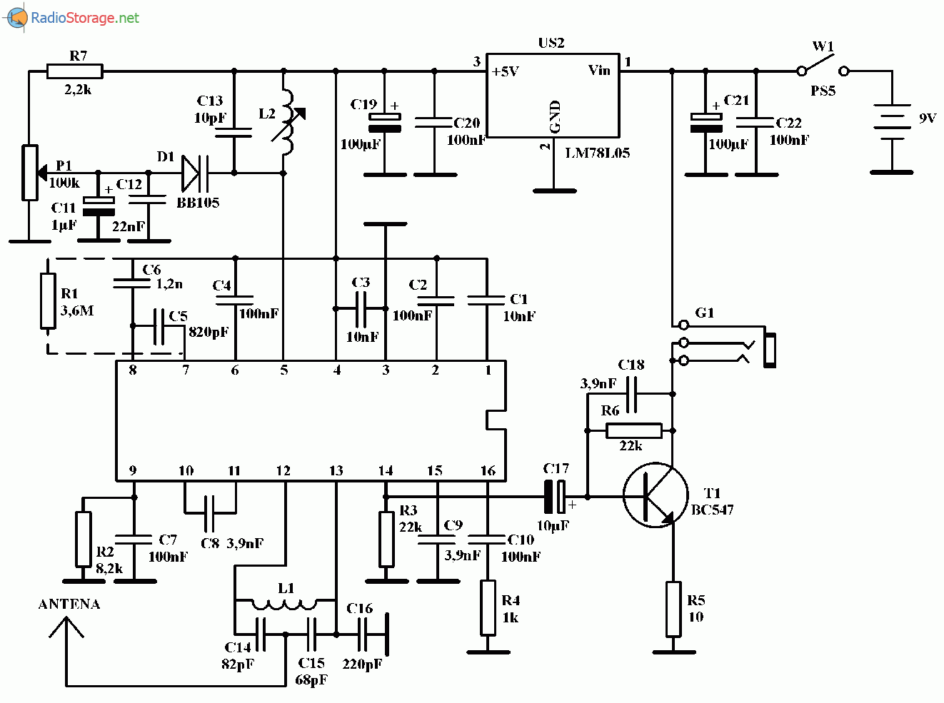 схема радиоприёмника fm без микросхем