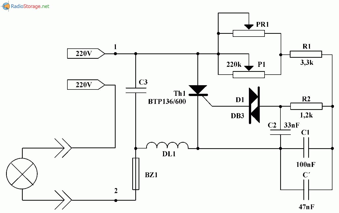 Регулятор Мощности Для Электролампы На 220 Вольт