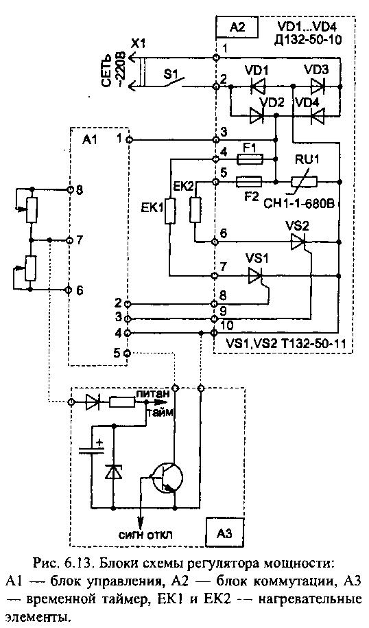 Монтаж силовых цепей схемы