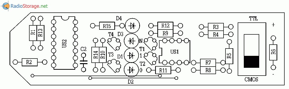 Элементы В, С, D схемы US2
