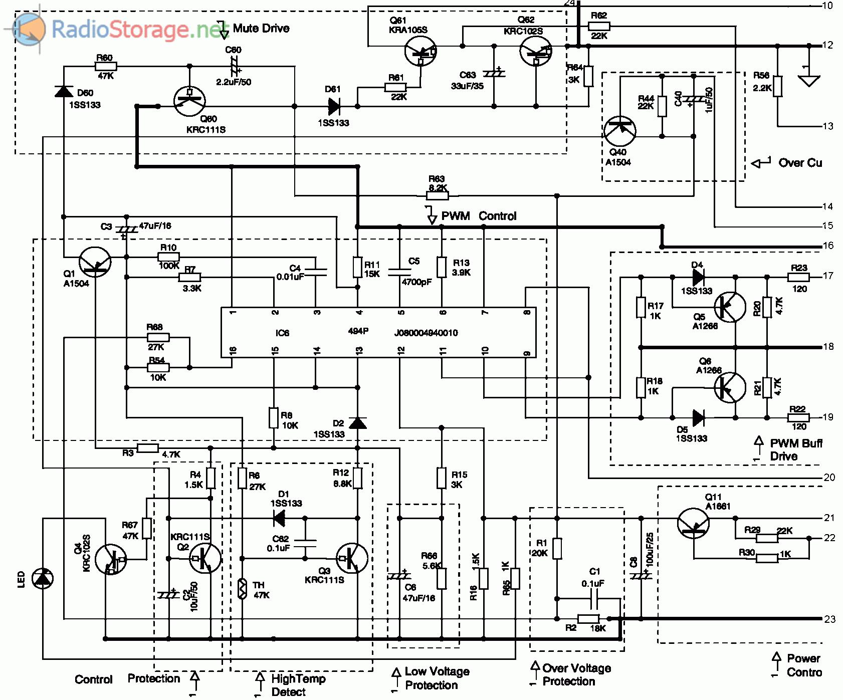 Схема автомобильного четыре