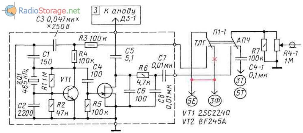 Транзисторный детектор CW/SSB с кварцевым опорным гетеродином