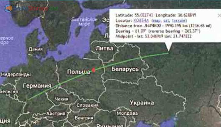 Слабый сигнал на удалении почти 2000 км