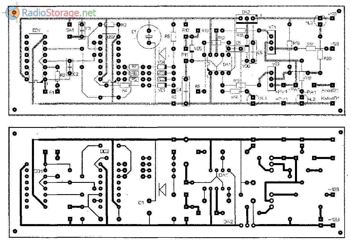 Печатная плата для схемы электролизера