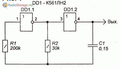 Схема для проверки работоспособности жидкокристаллических (ЖК) индикаторов