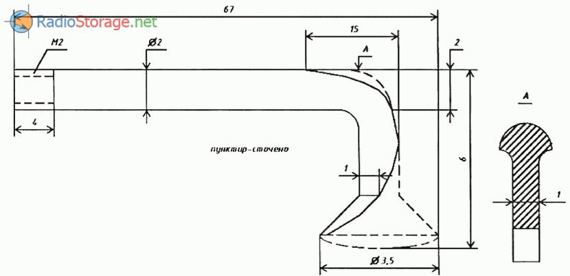 Приспособление для демонтажа радиодеталей, конструкция