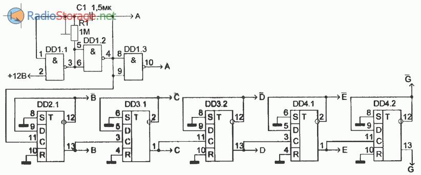 Схема, реализующая автомат световых эффектов (часть 2)