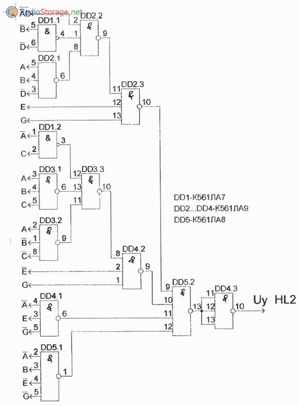 Схема, реализующая автомат световых эффектов (часть 4)