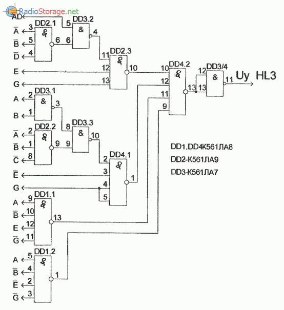 Схема, реализующая автомат световых эффектов (часть 5)