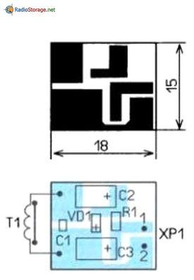 Печатная плата для схемы датчика