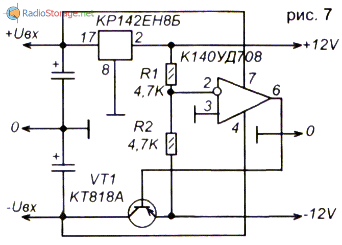 Особенности применения интегральных стабилизаторов серий КР142ЕН и 78xx